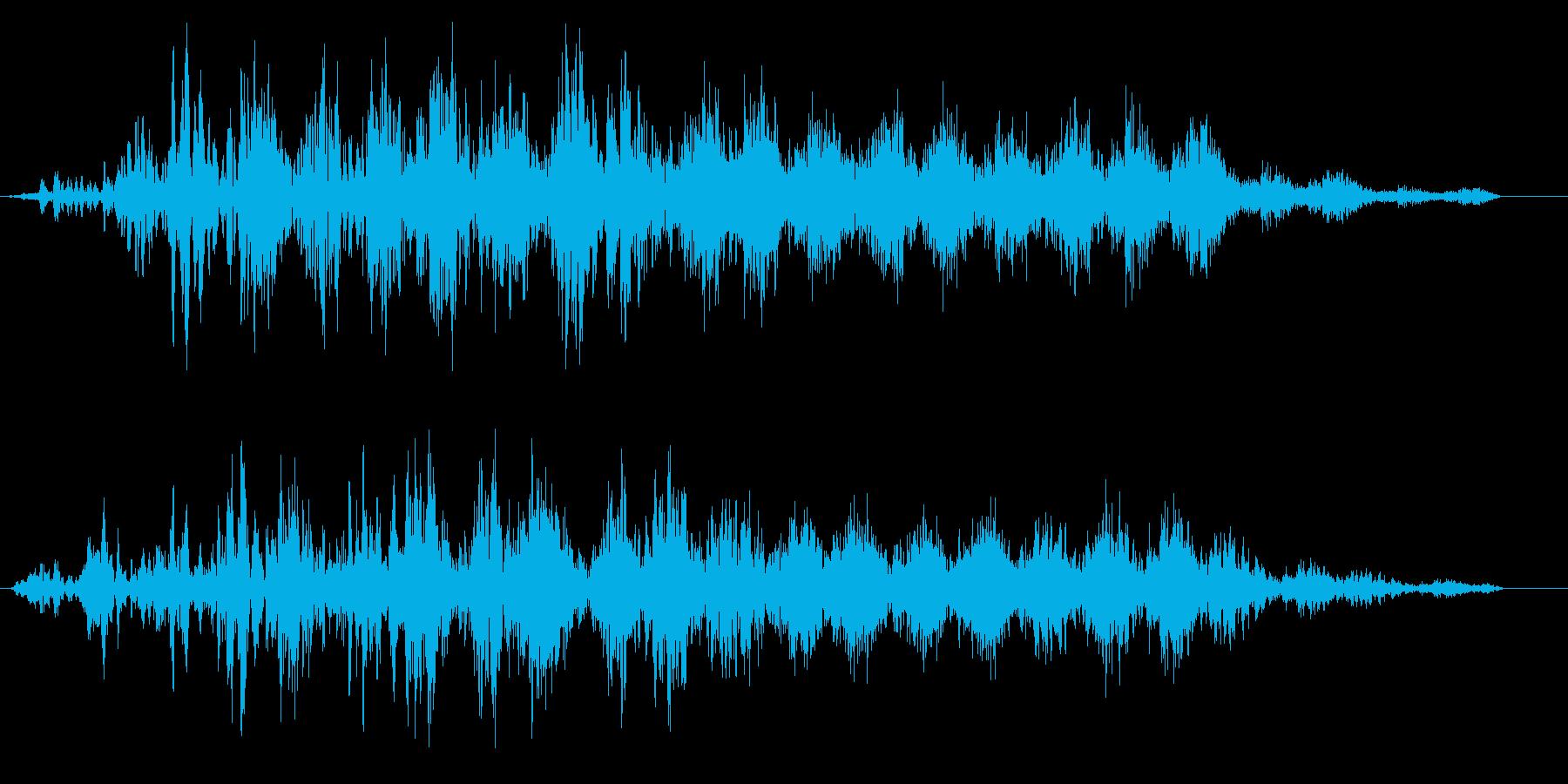ビュイーン(ワープやスタートの効果音)の再生済みの波形