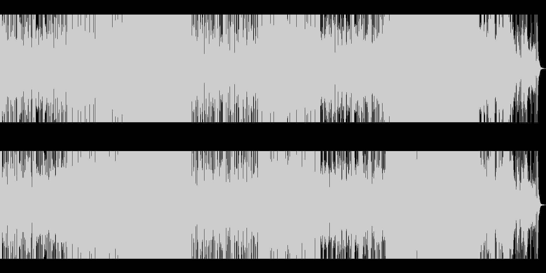 ど真ん中ロック+変拍子の未再生の波形