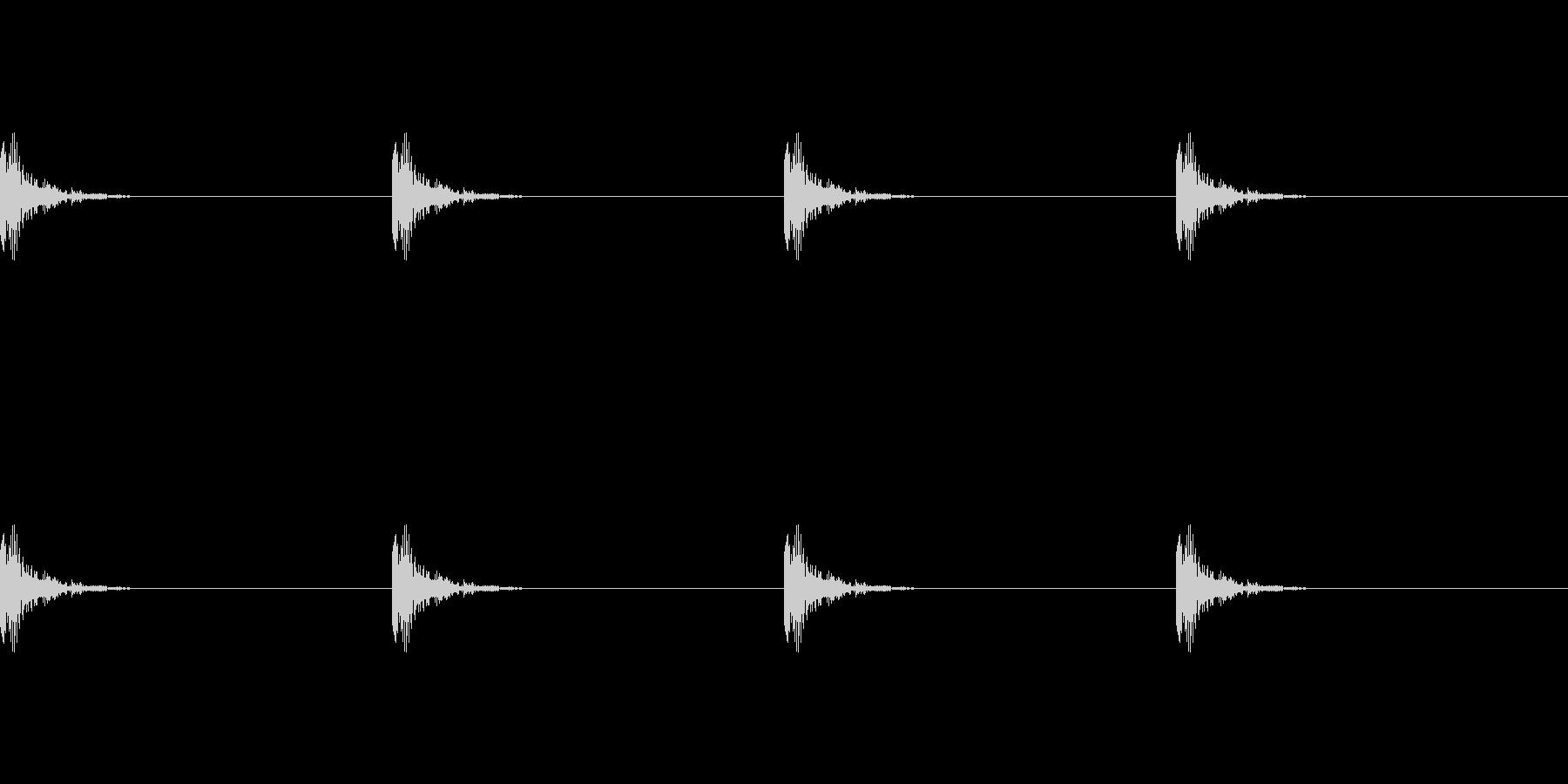 古い時計の音(カチャン、カチャン)の未再生の波形