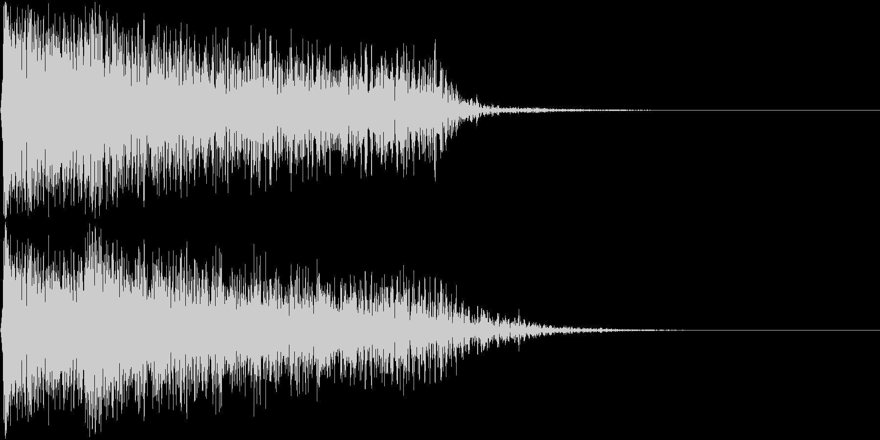 ショックを受けるイメージのピアノ不協和音の未再生の波形