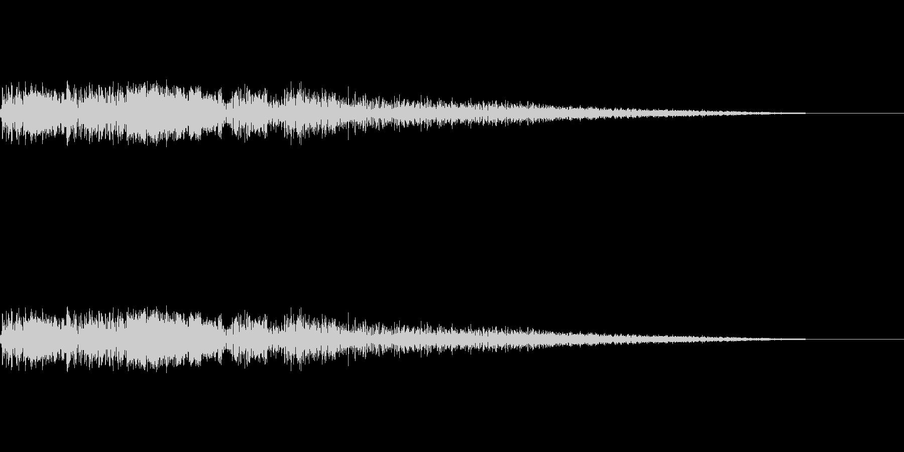 バキューン(銃を撃つ音)の未再生の波形