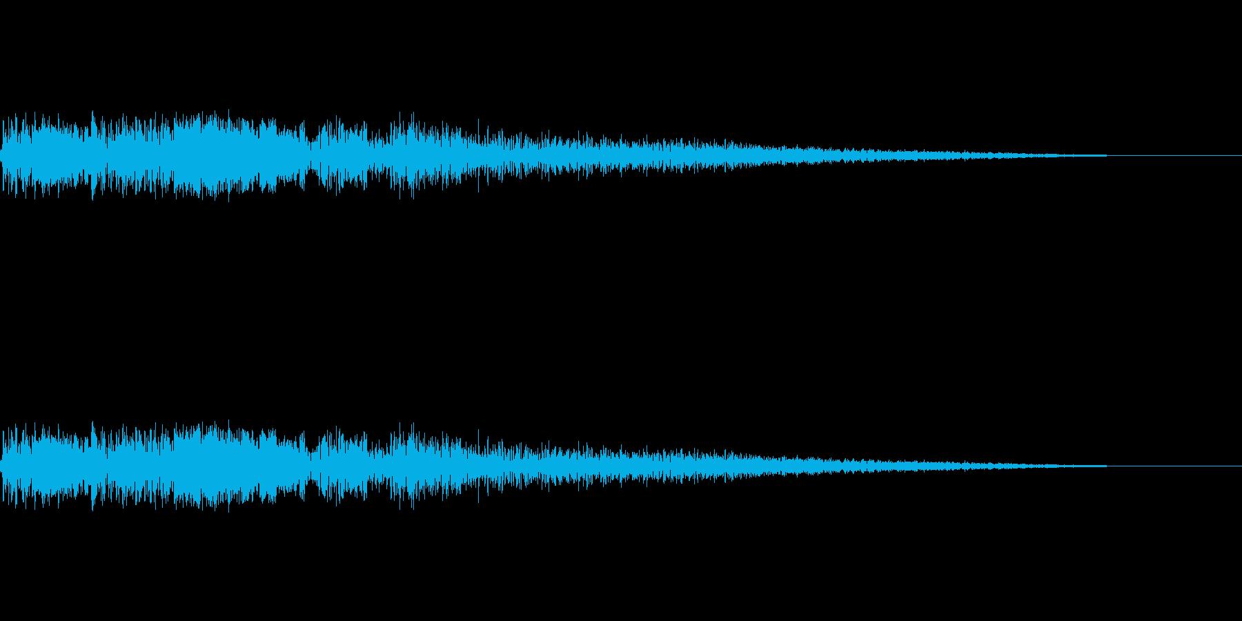 バキューン(銃を撃つ音)の再生済みの波形