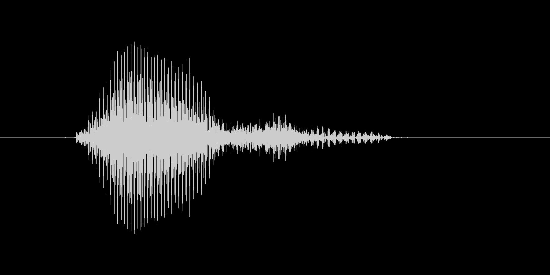 エースの未再生の波形