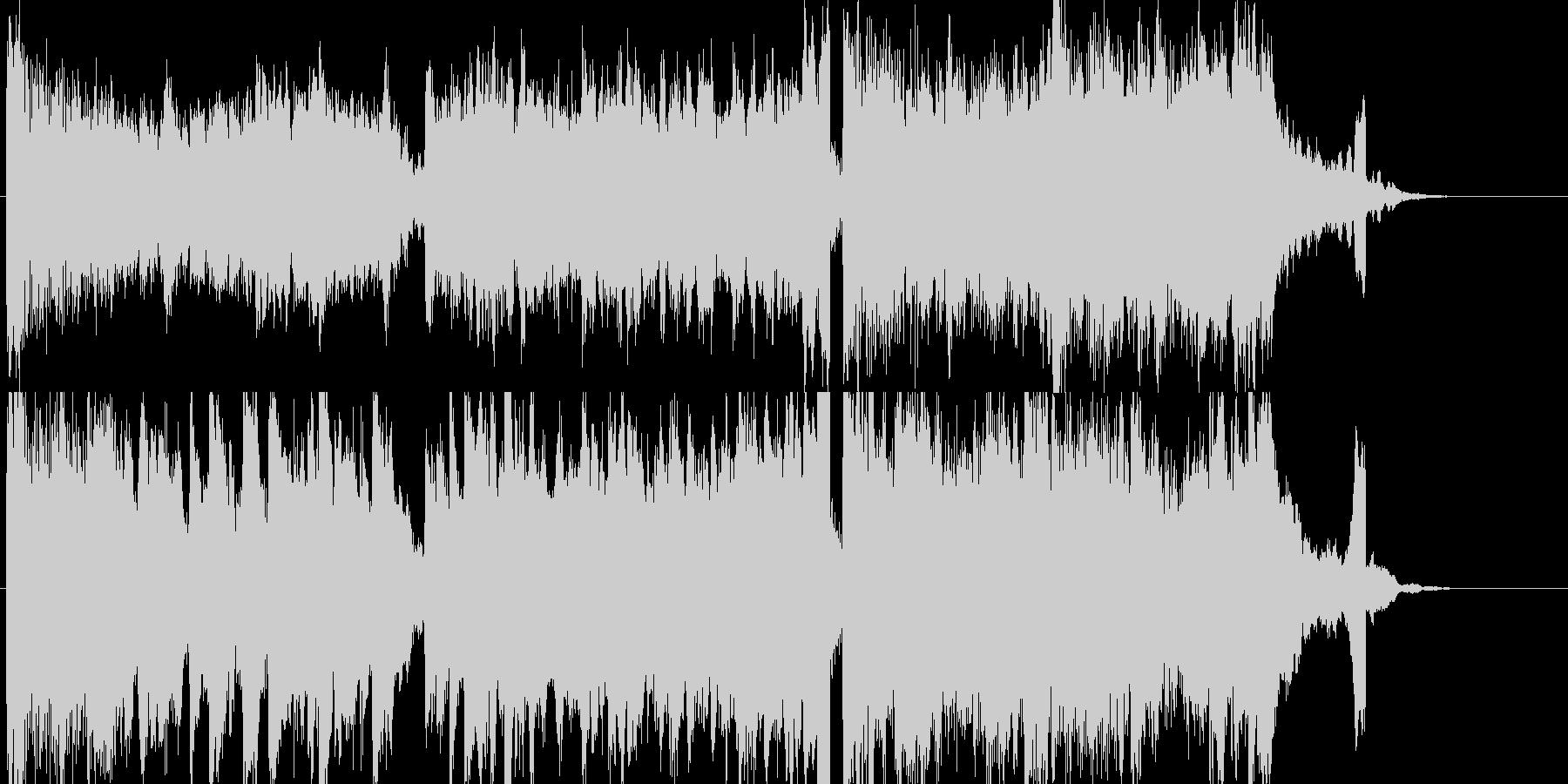 シックでクールなピアノとストリングスの未再生の波形