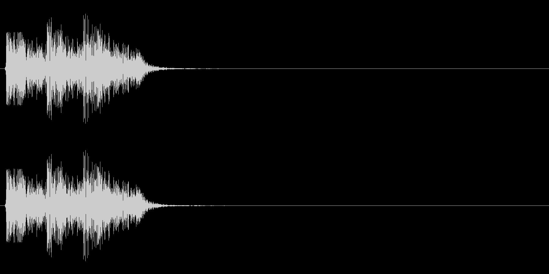 【打撃02-4】の未再生の波形