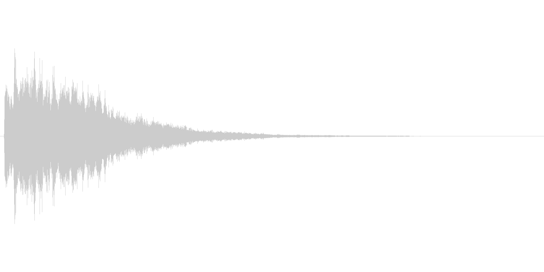 キラキラとしたアプリ、ゲームのスタート音の未再生の波形