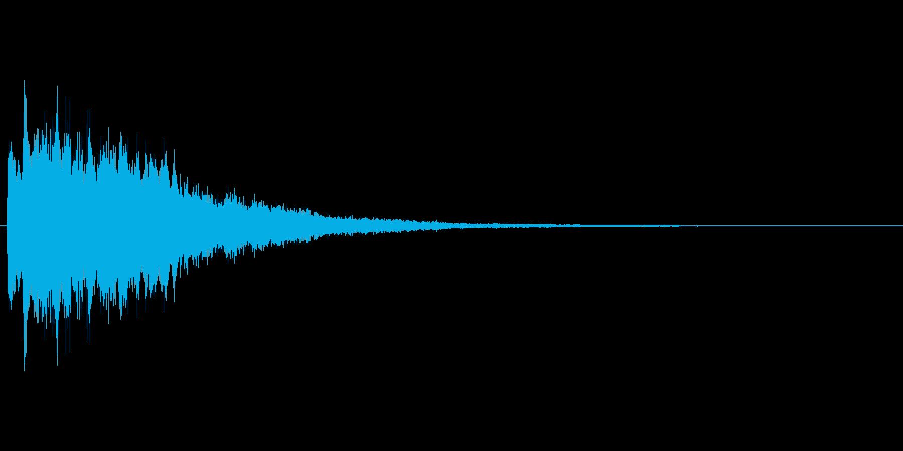 キラキラとしたアプリ、ゲームのスタート音の再生済みの波形