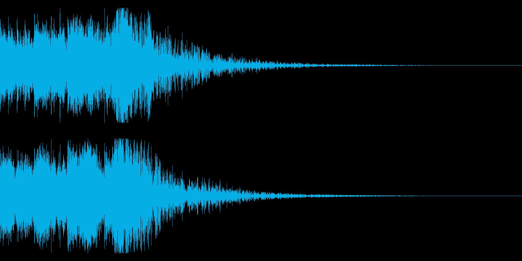 和風 オーケストラヒット ジングル!06の再生済みの波形