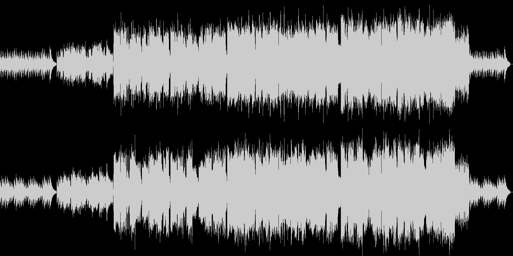 穏やかなフルートとヴァイオリンのBGMの未再生の波形