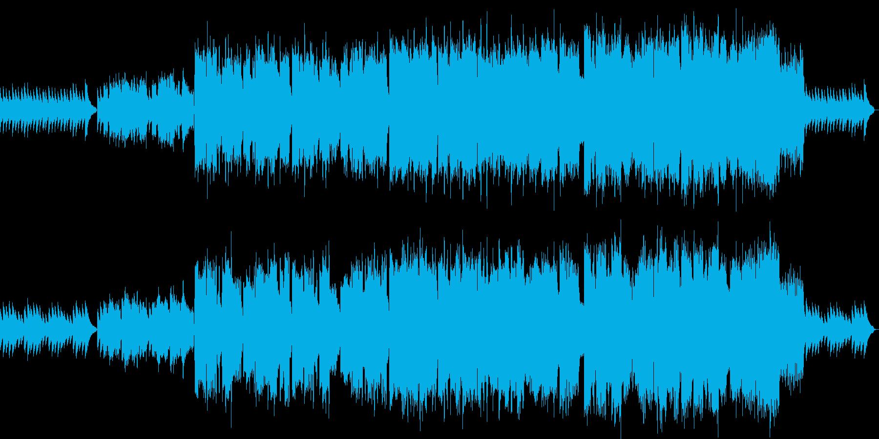 穏やかなフルートとヴァイオリンのBGMの再生済みの波形