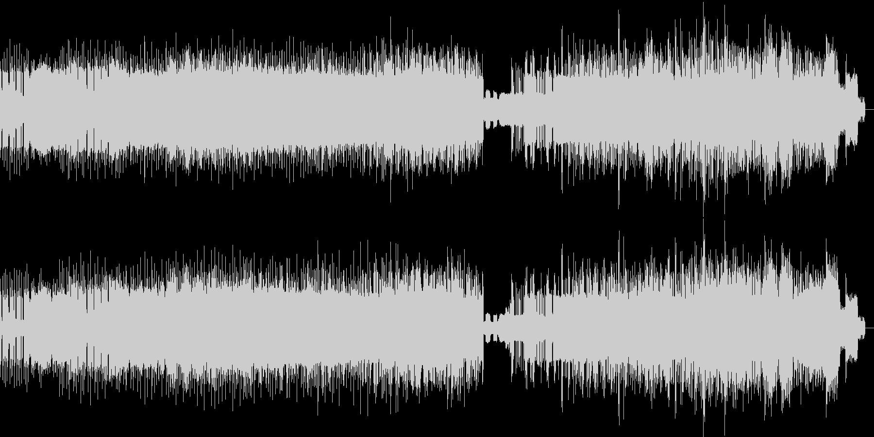 ビート感のあるノイズの未再生の波形