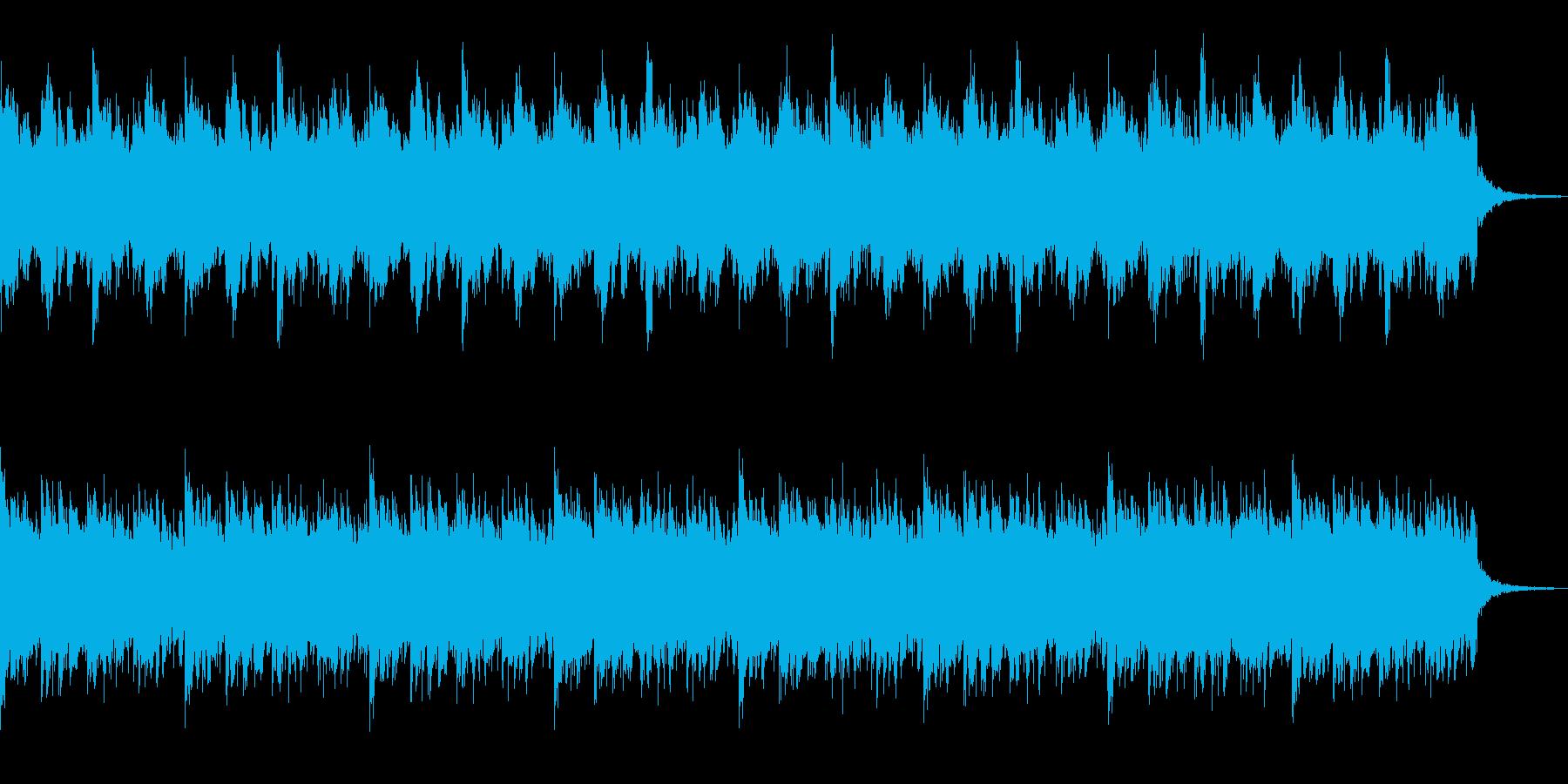 冬景色をイメージした曲の再生済みの波形