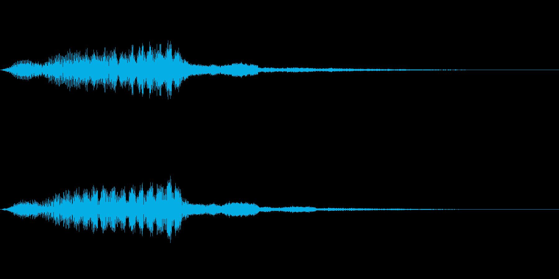 かっこよく光がはじける音・ヒューキーンの再生済みの波形