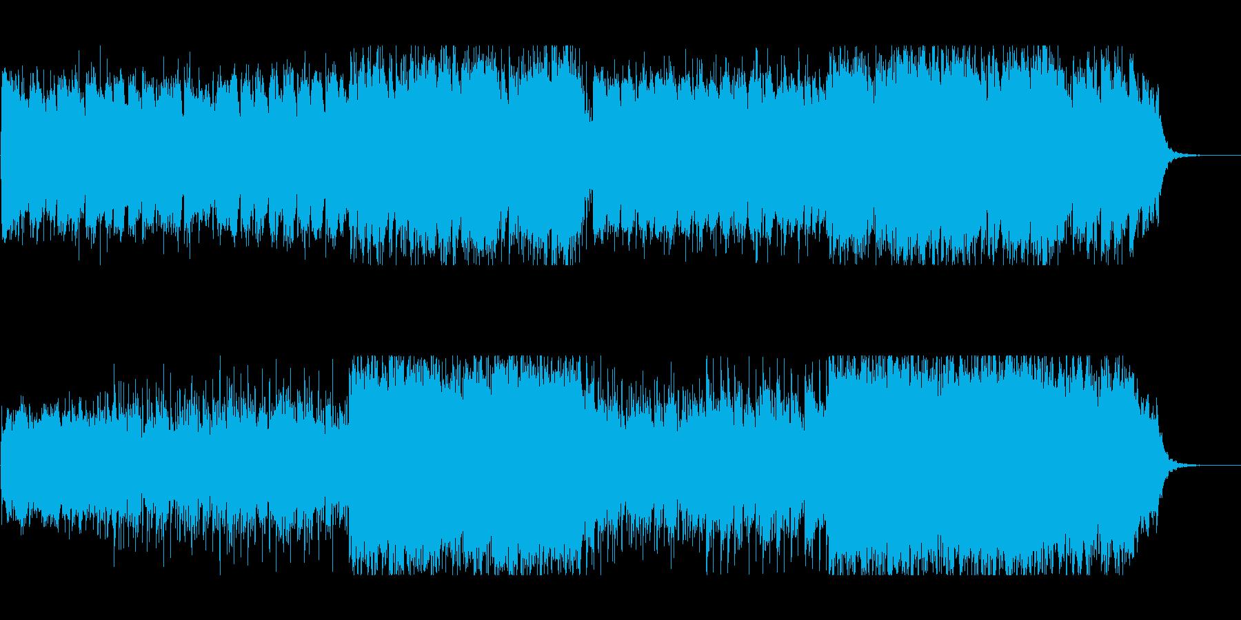 和風幻想曲でドラマチックな展開の曲の再生済みの波形