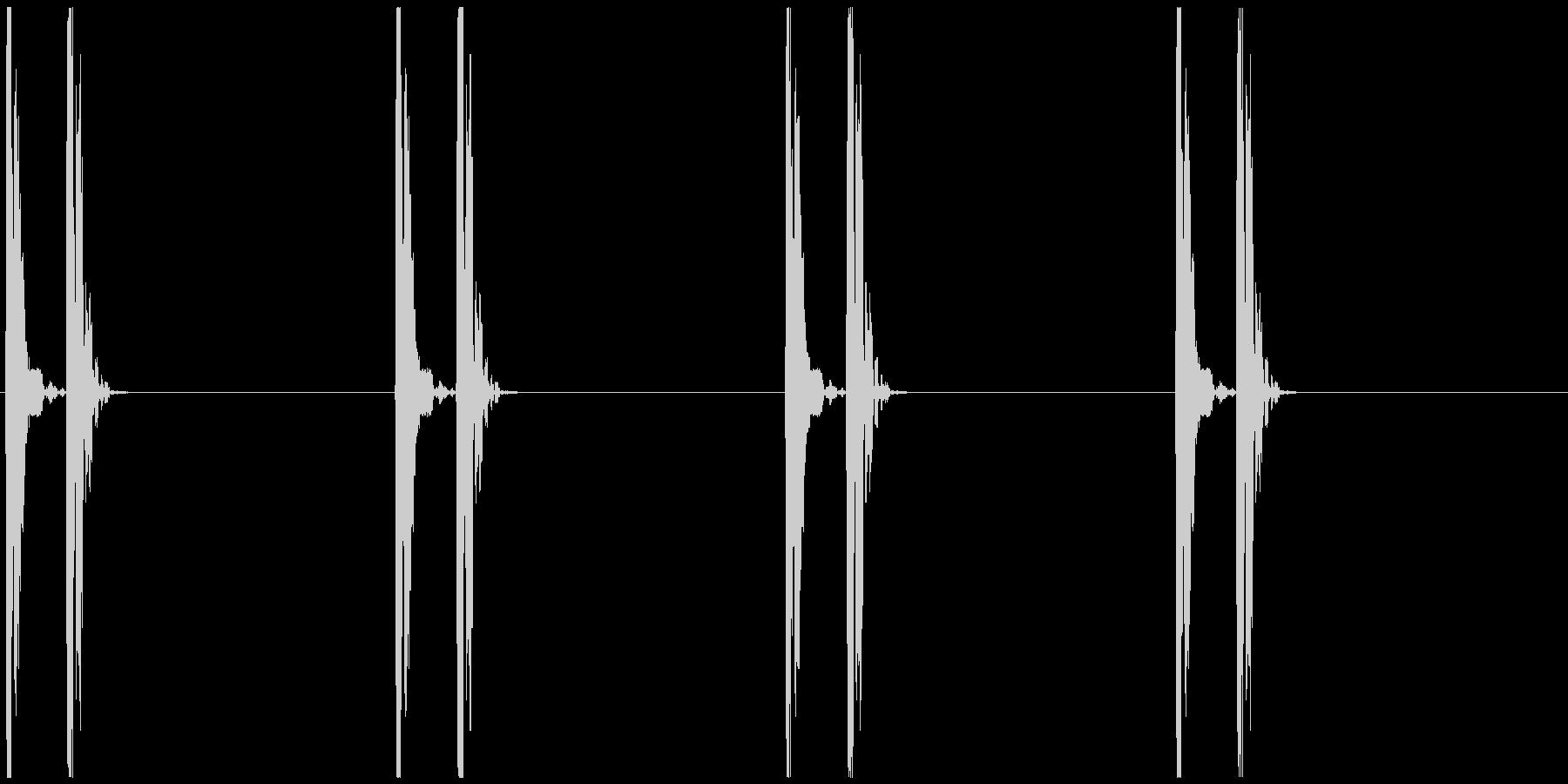 ドックン...(心臓、鼓動、心電図)の未再生の波形
