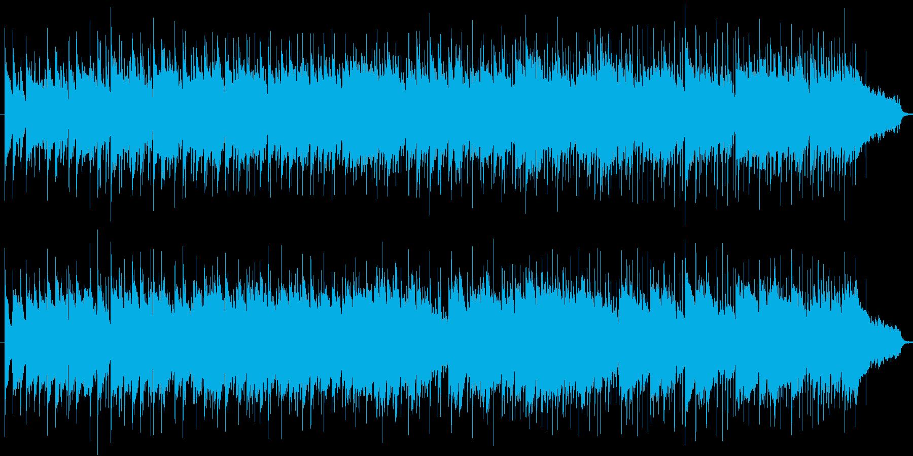 天気予報や一日の終りにしっとりした曲の再生済みの波形