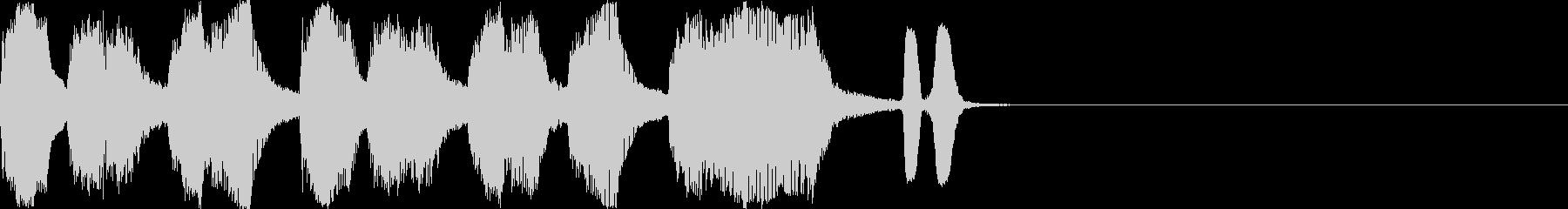バラエティー向きショートネタです。の未再生の波形