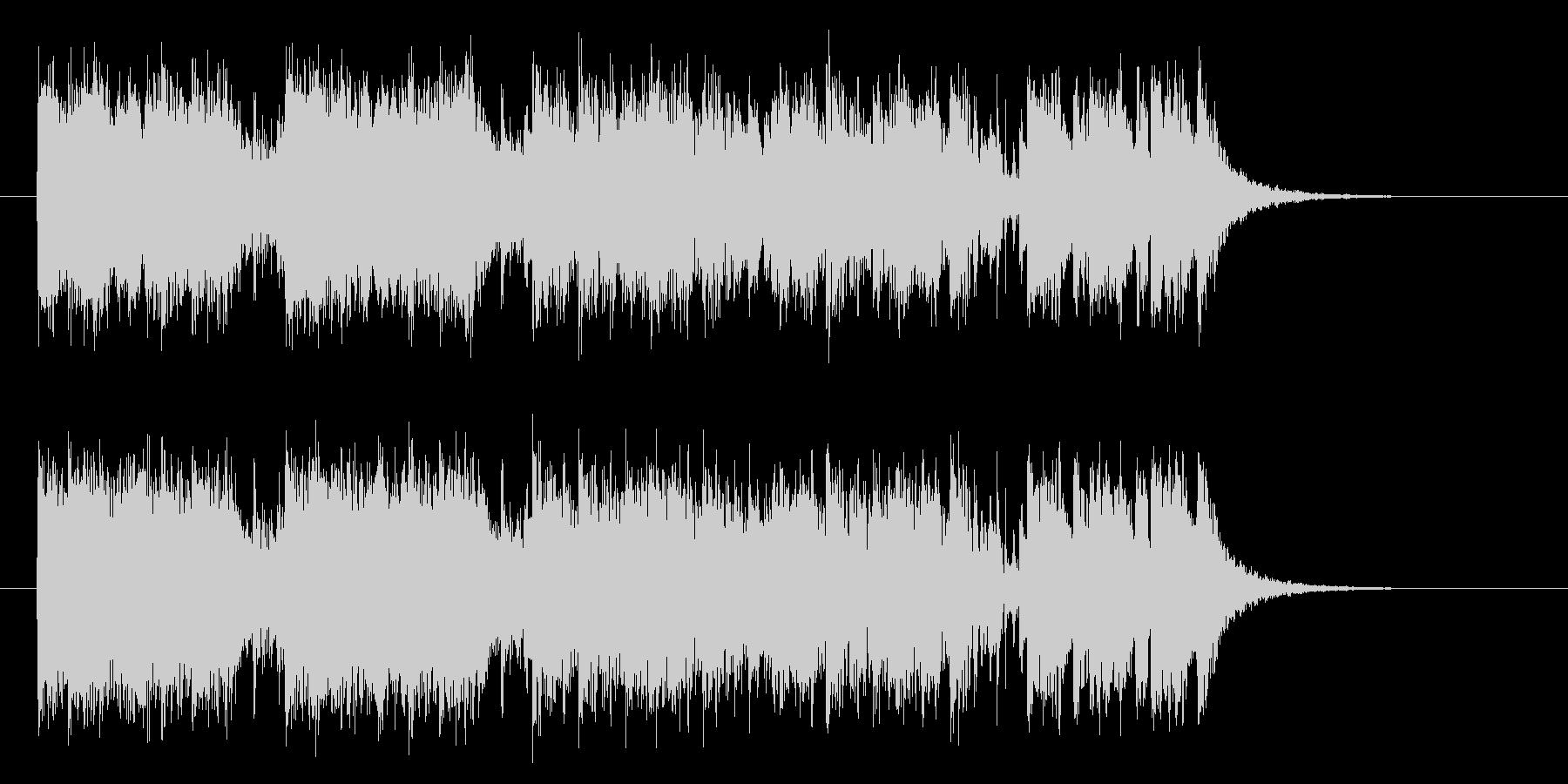 エレキギターがダイナミックなヘヴィメタルの未再生の波形