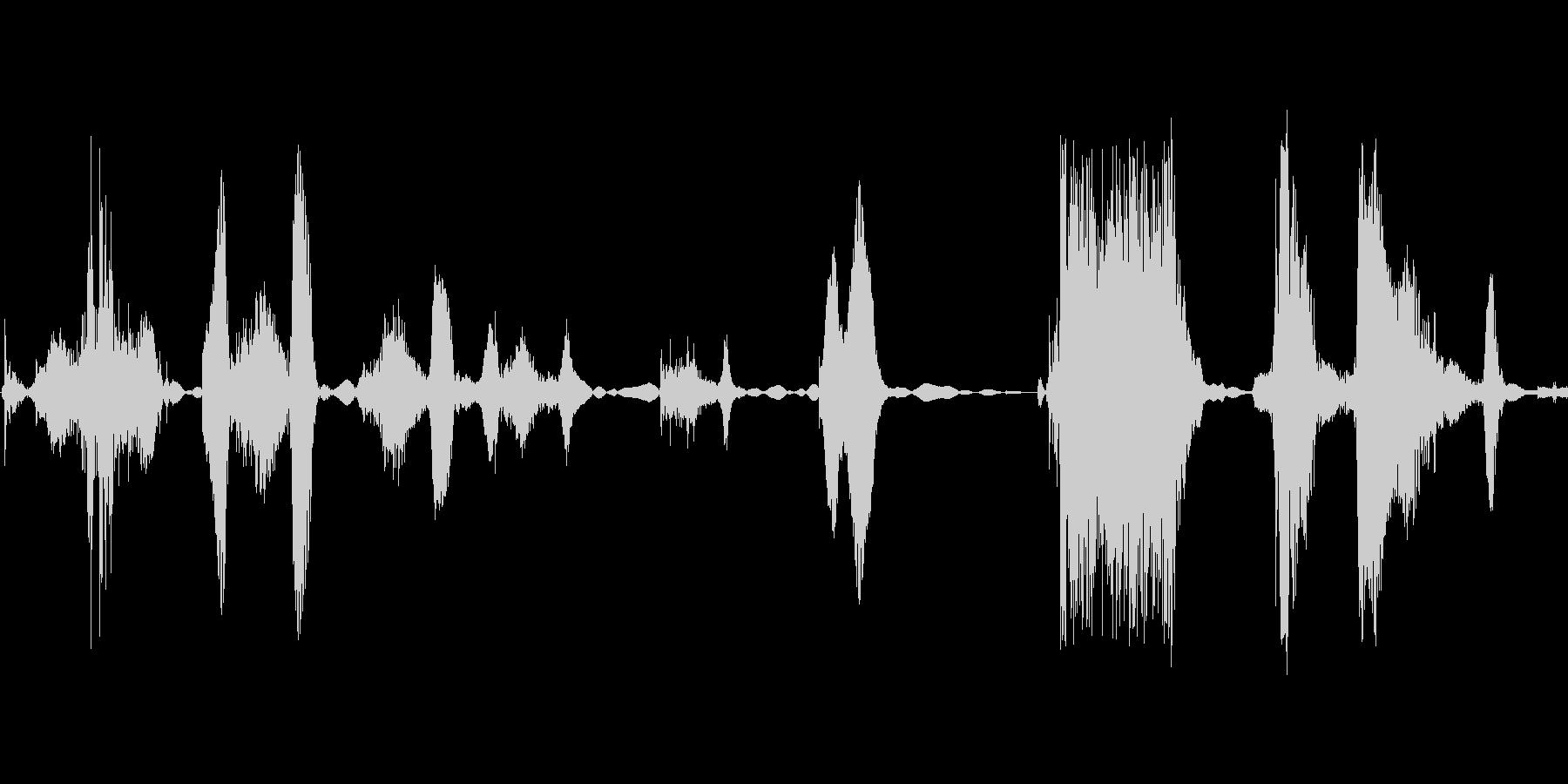 くふふふっ ふふっの未再生の波形