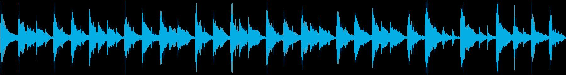 軽快なリズムのコミカルなジングル_ループの再生済みの波形