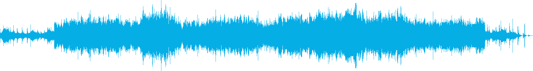 弦楽合奏のフレーズをエフェクト処理の再生済みの波形