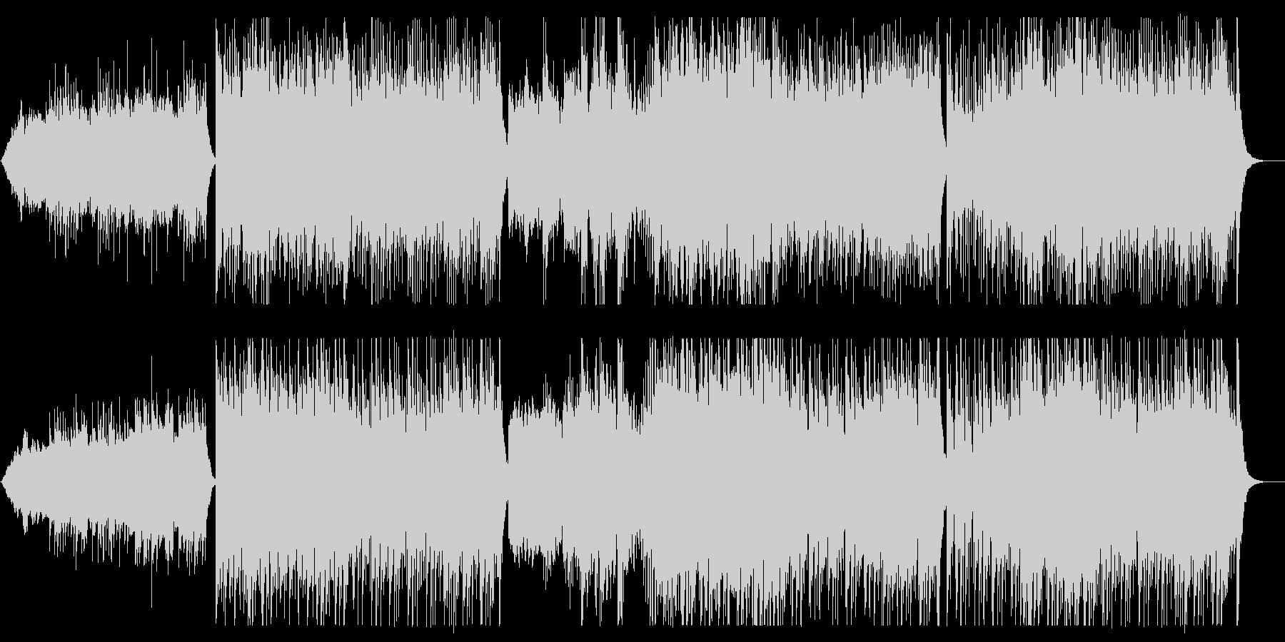 迫力のある和風の弦管楽器のサウンドの未再生の波形