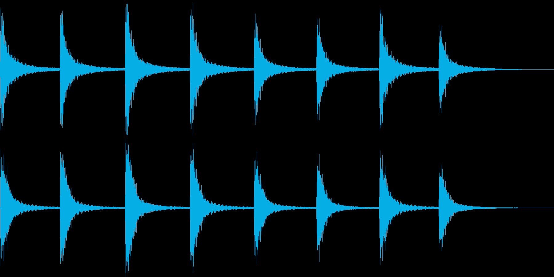 半鐘の再生済みの波形