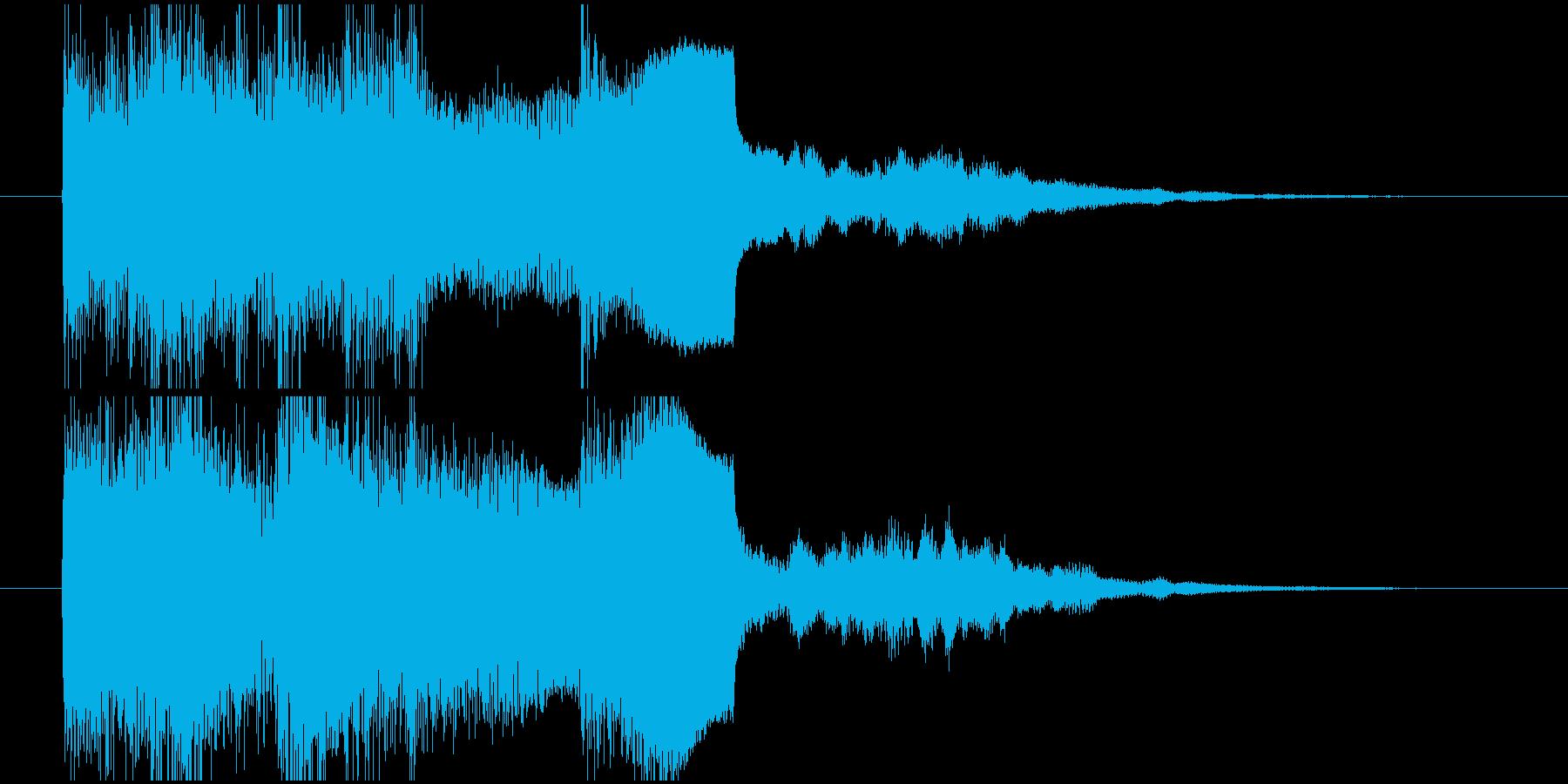 クイズ正解ジングル、ファンファーレの再生済みの波形