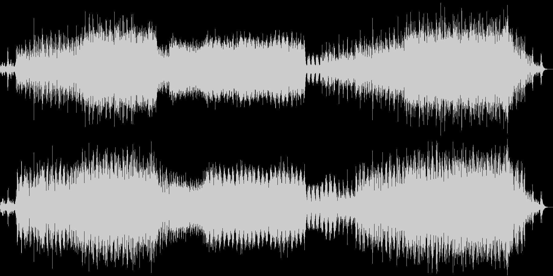 何かが始まると予感させて突き進むテクノ曲の未再生の波形