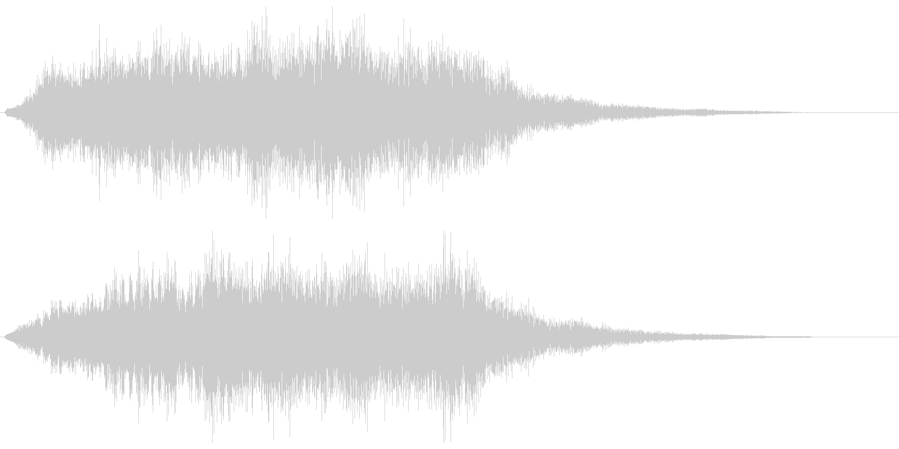 恐怖を演出するストリングスの不協和音の未再生の波形
