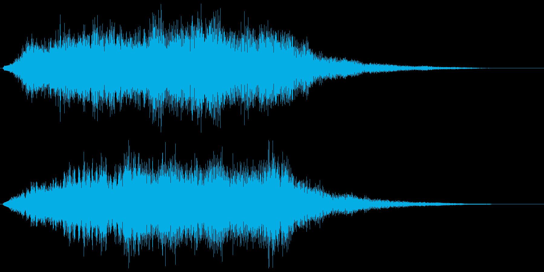 恐怖を演出するストリングスの不協和音の再生済みの波形
