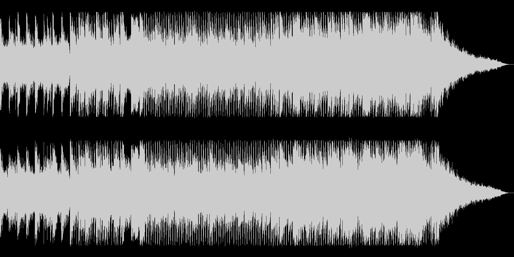 ピアノがかっこいいテクノサウンドの未再生の波形