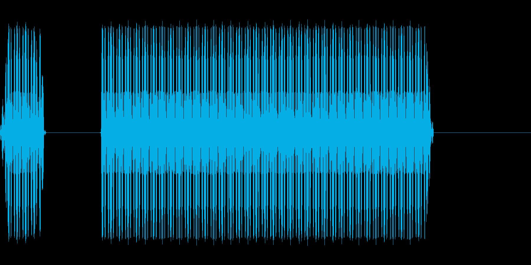 ブッブーというエラー音です。の再生済みの波形
