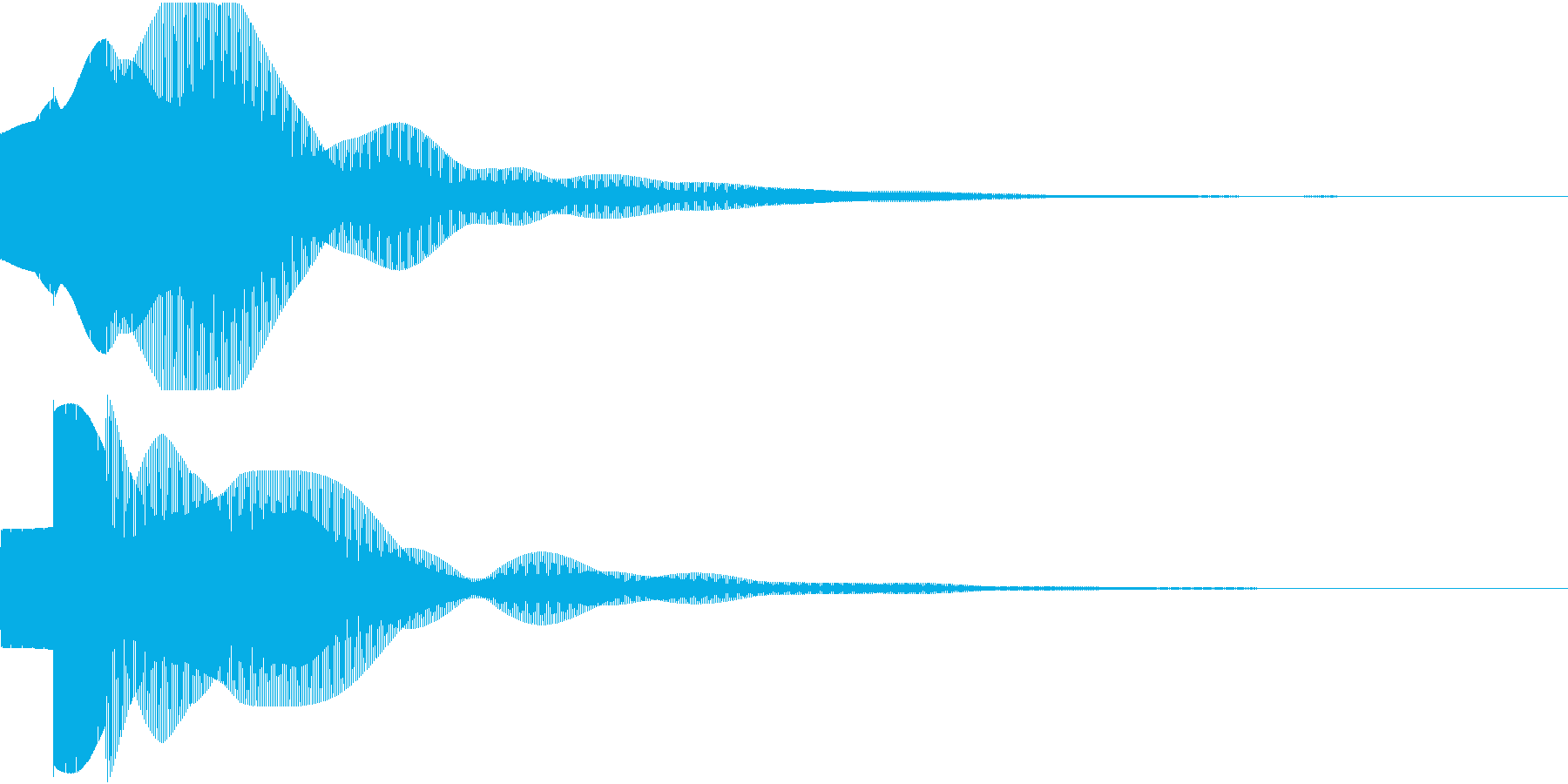 開閉チャイム(電子音)の再生済みの波形