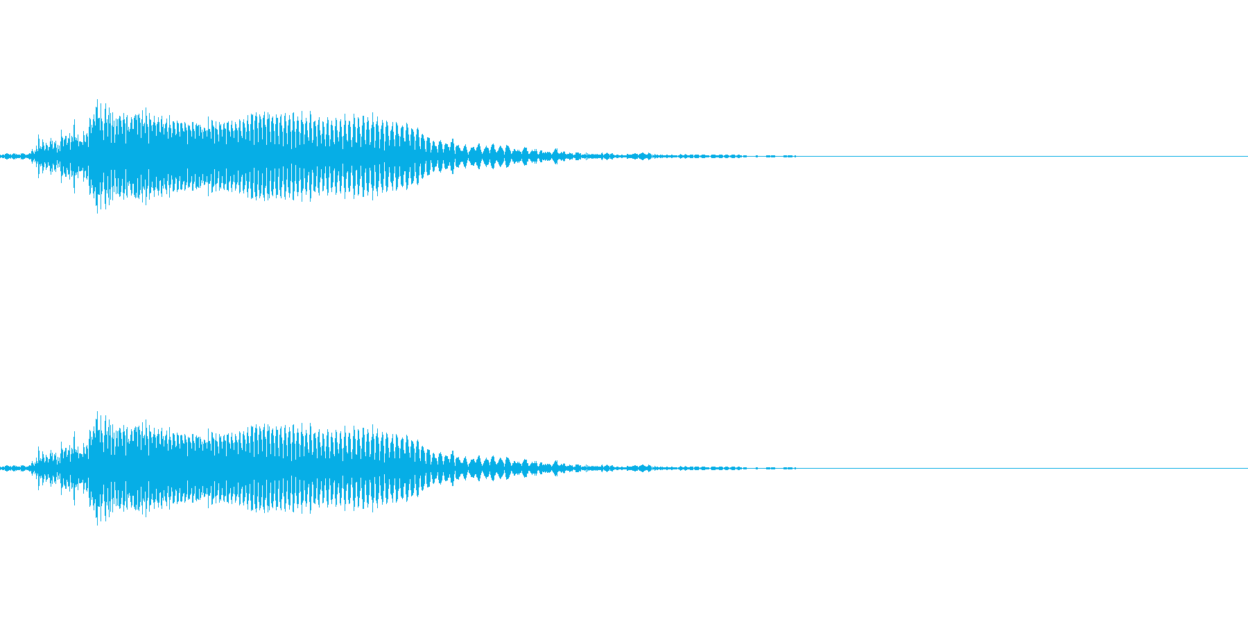うっ (ダメージを受けた時)の再生済みの波形