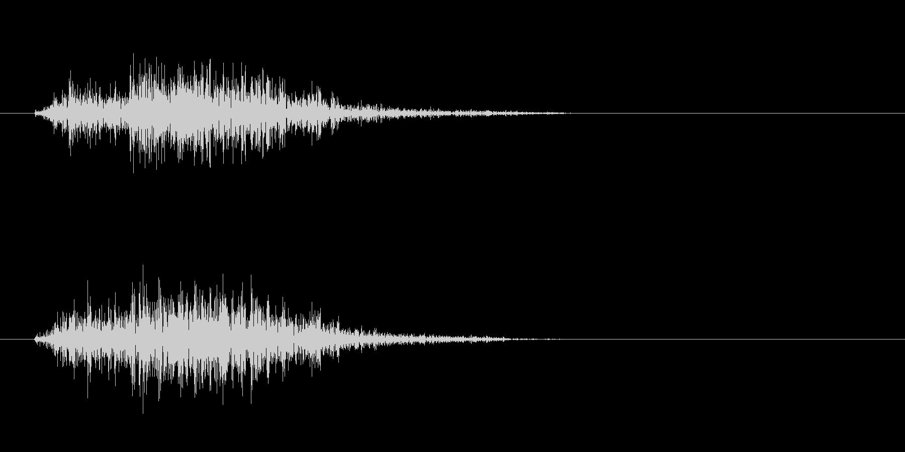 シャッ(摩擦系の音)の未再生の波形