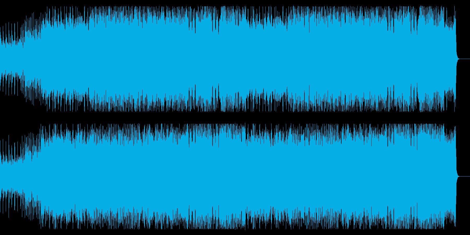 ボス戦をイメージしたロック&オーケストラの再生済みの波形