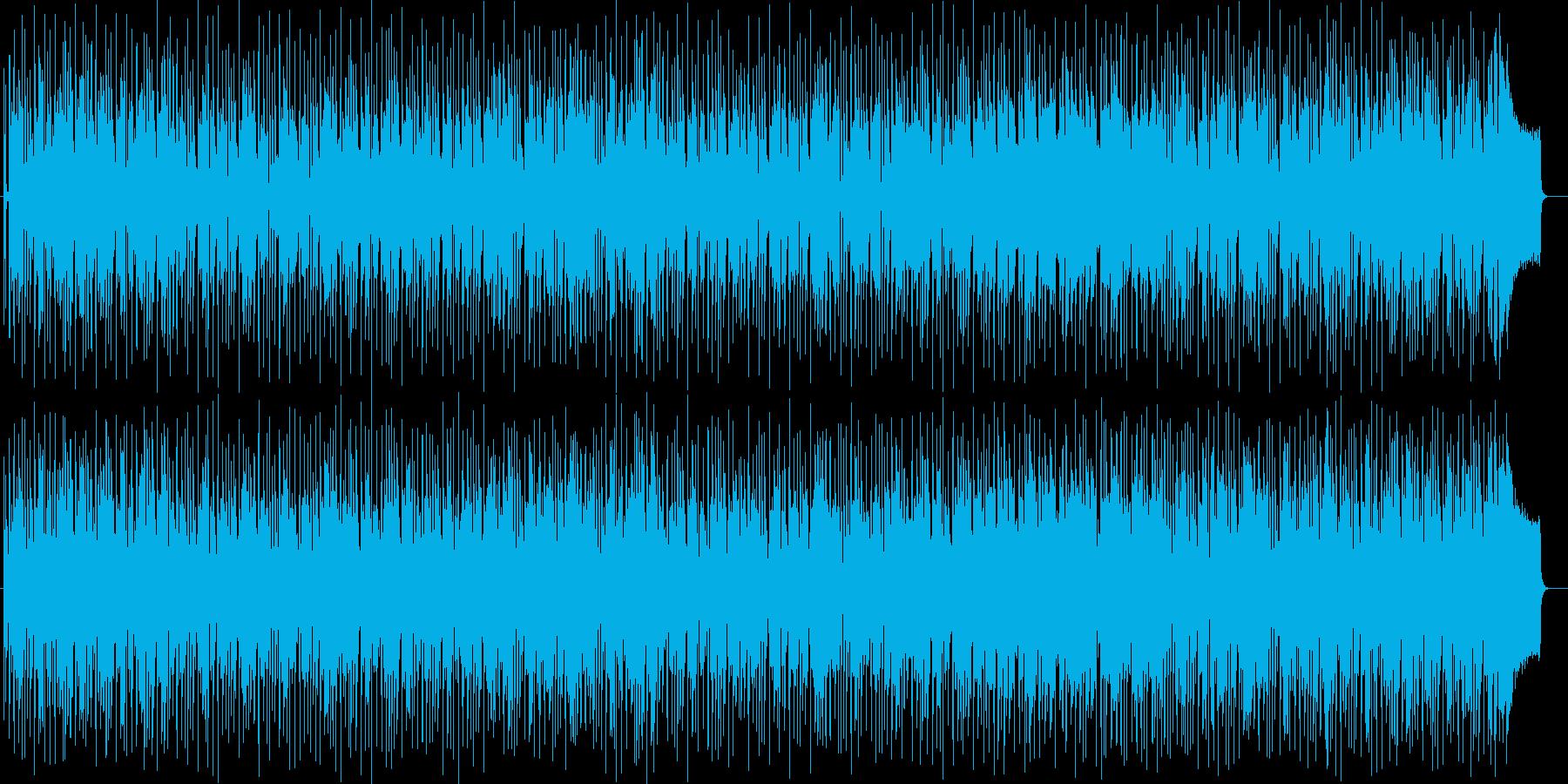 楽しい休日シンセサイザー曲の再生済みの波形