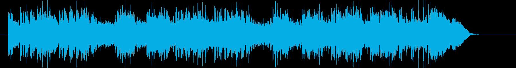 バンド演奏による優しい音色のジングル曲の再生済みの波形