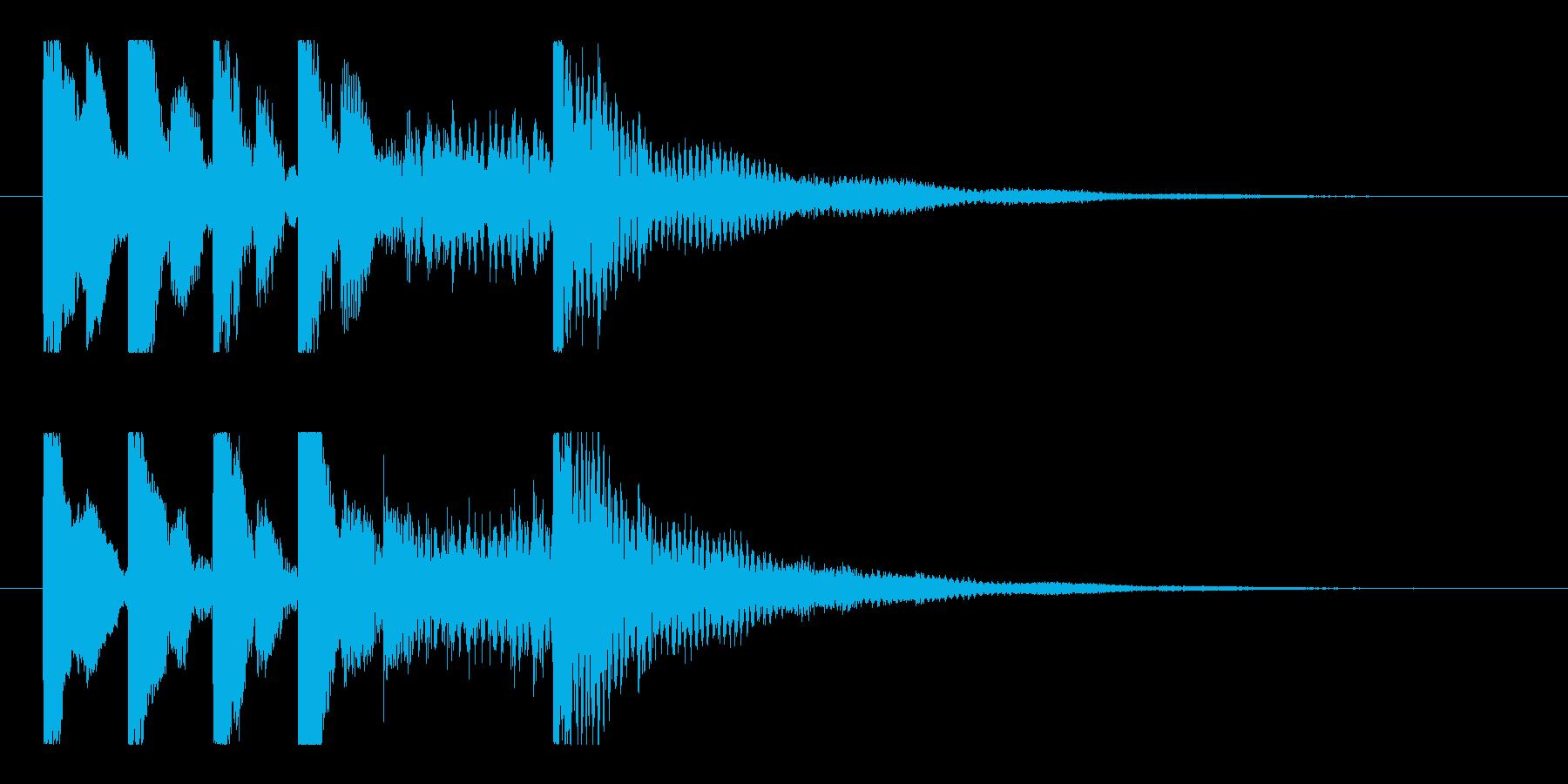 ポップでコミカルな5秒ショートロゴ♪の再生済みの波形