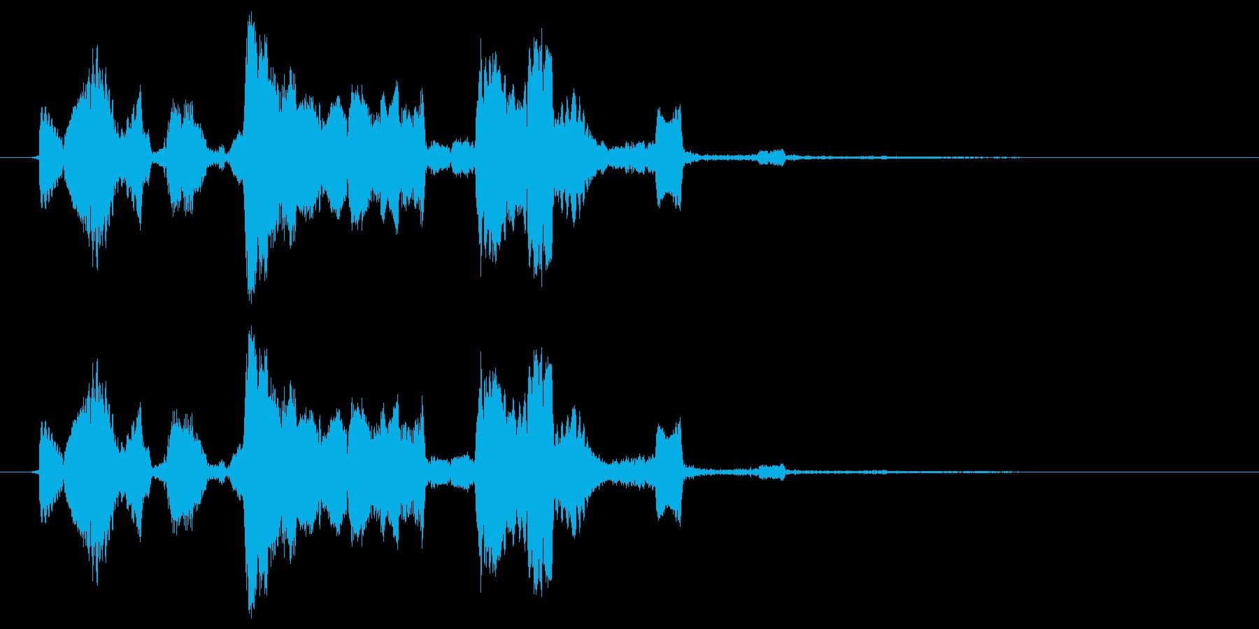 くすぐるの再生済みの波形