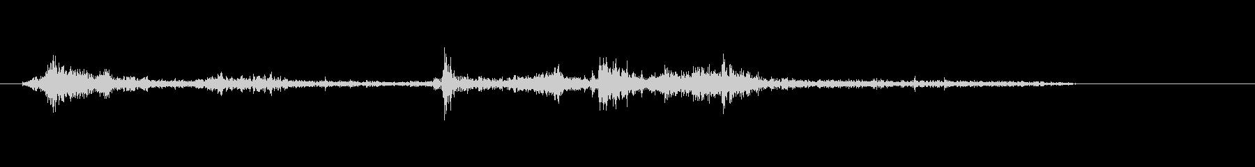 シュペラッ(本をめくる音)の未再生の波形