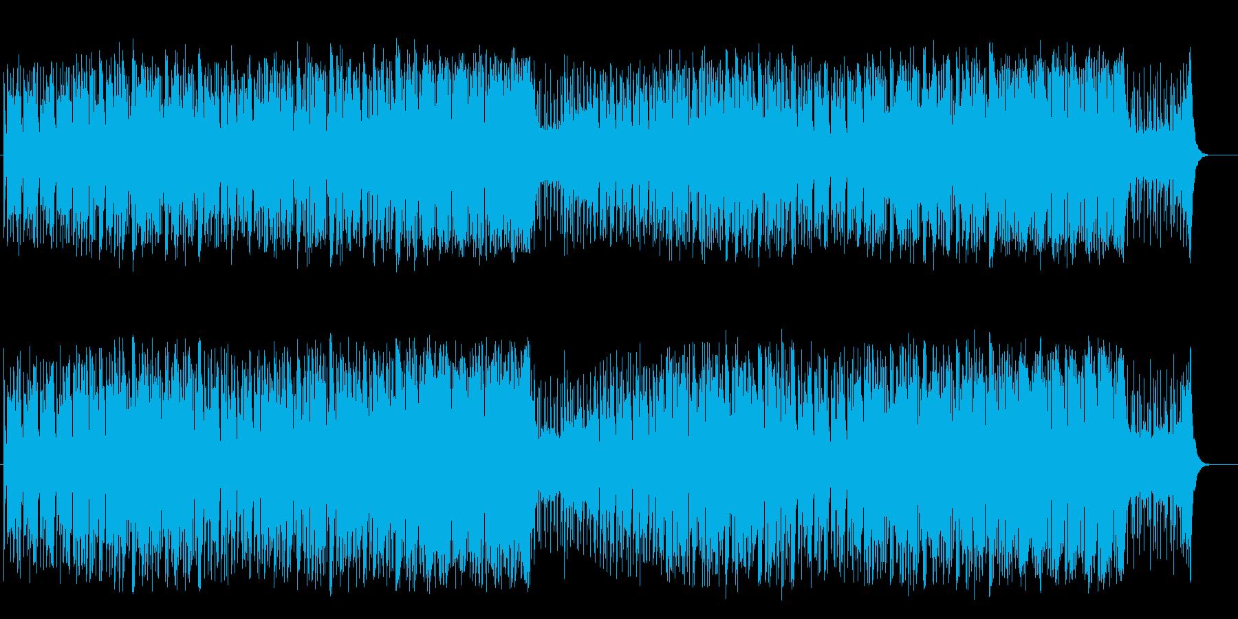 リズミカルな元気の出るライトポップスの再生済みの波形