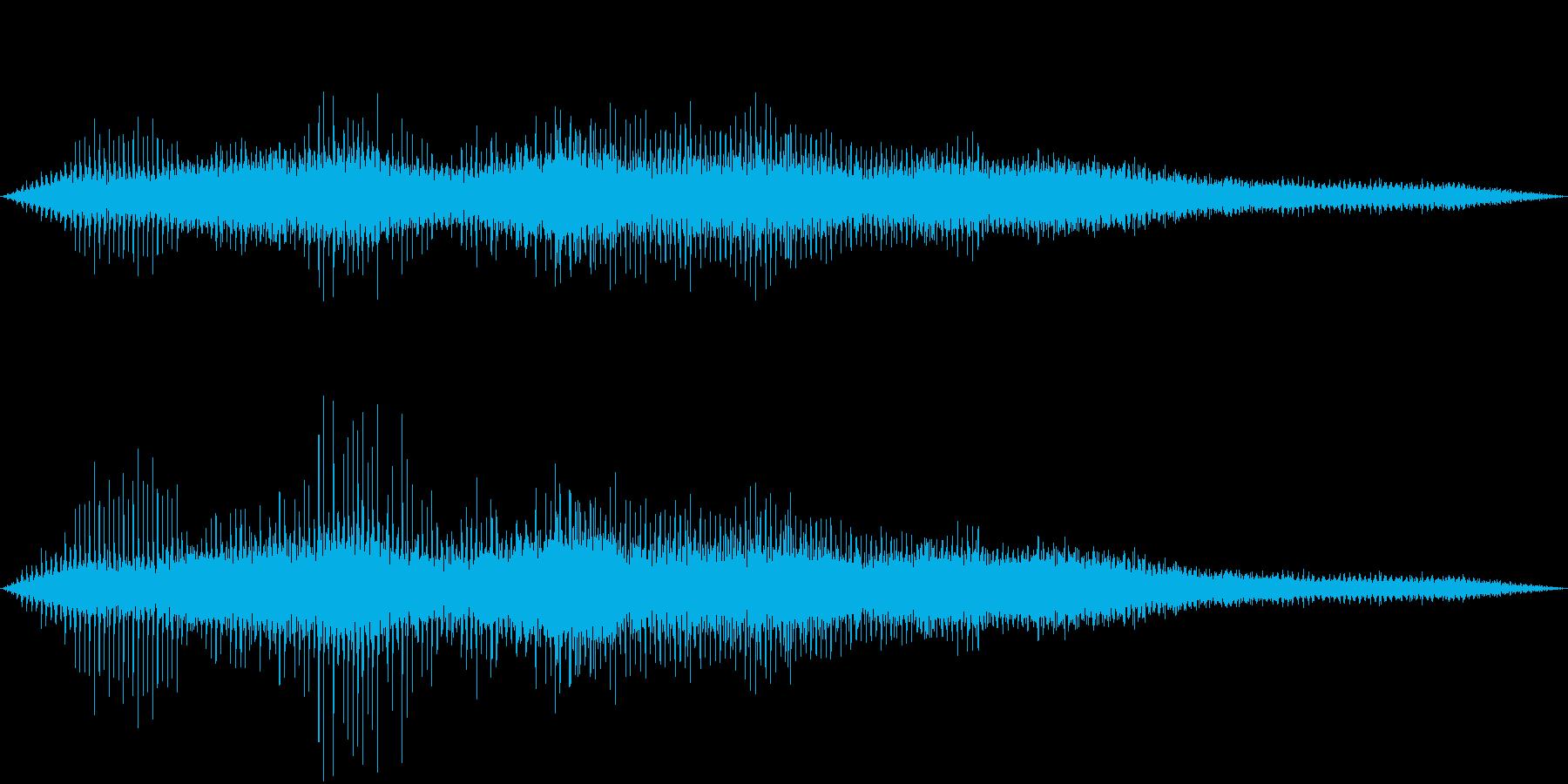 ヘリコプター離陸の再生済みの波形