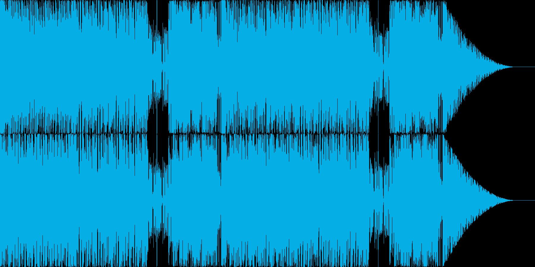 緊迫した戦闘BGMの再生済みの波形