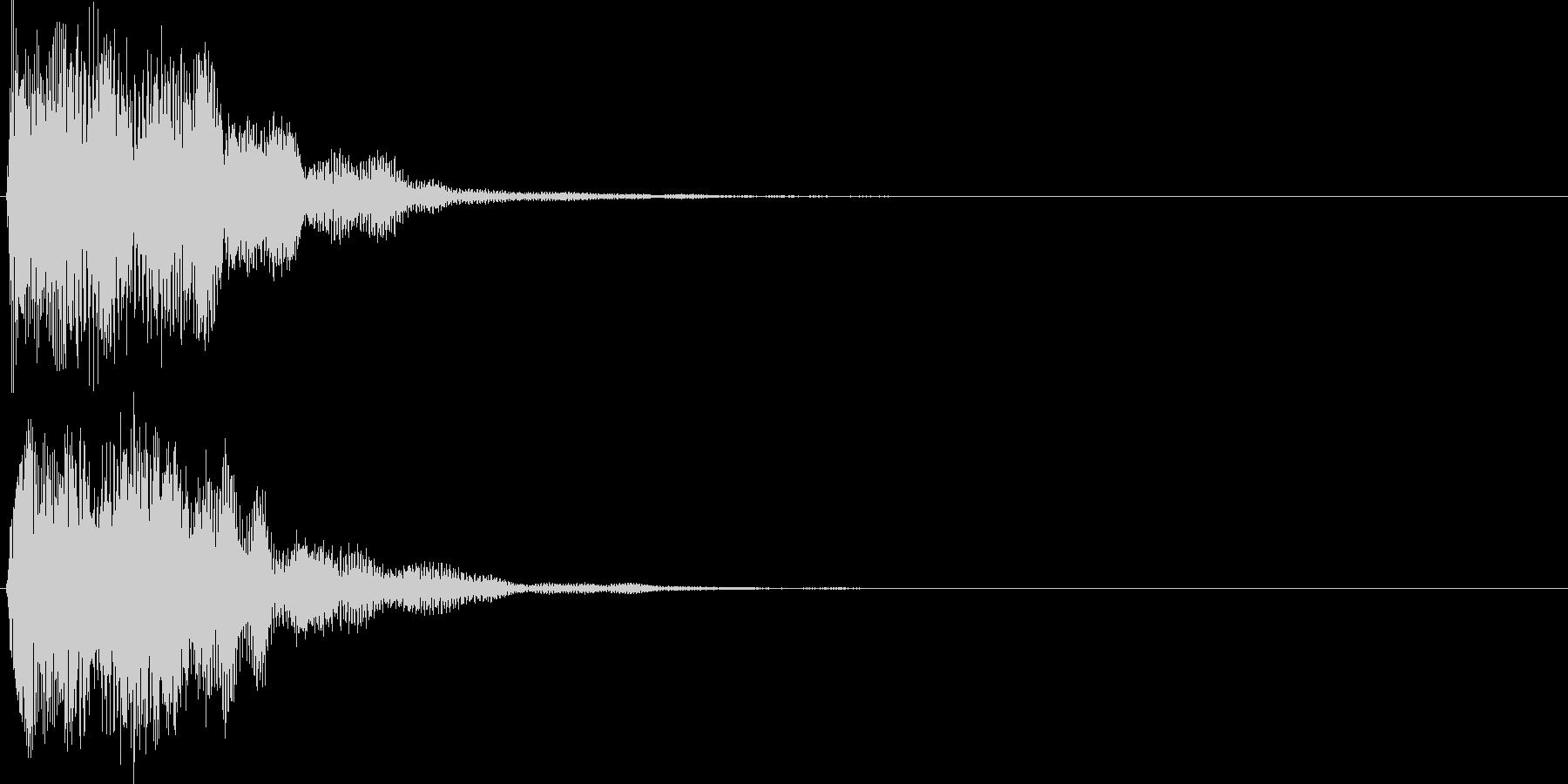 ピコ(ゲーム、アプリなどの操作音07)の未再生の波形