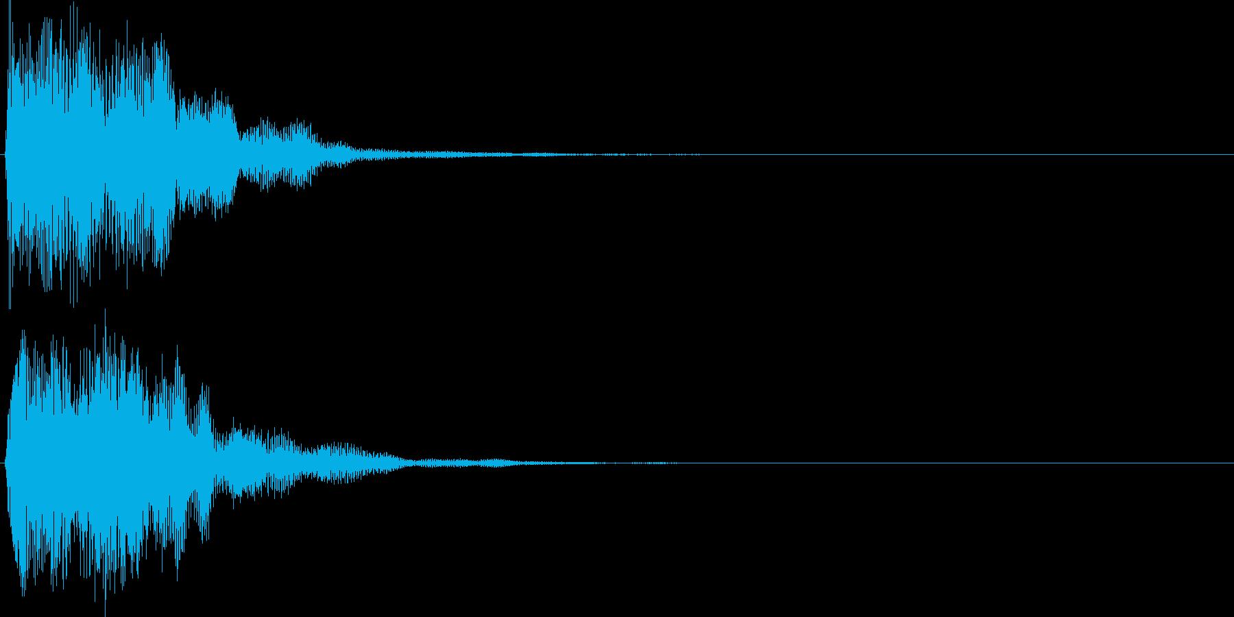 ピコ(ゲーム、アプリなどの操作音07)の再生済みの波形