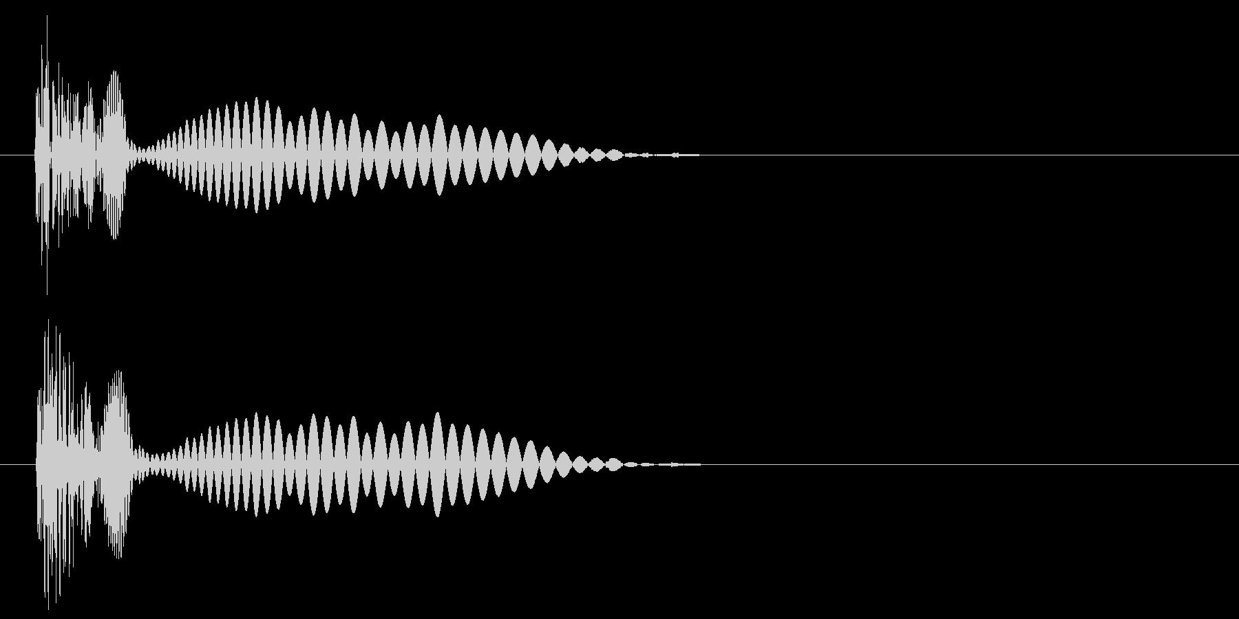 決定・キャンセル音(シュール)の未再生の波形