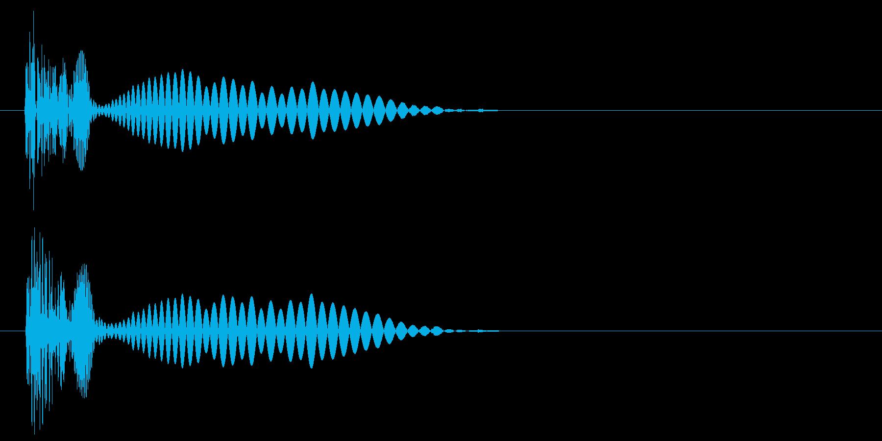 決定・キャンセル音(シュール)の再生済みの波形