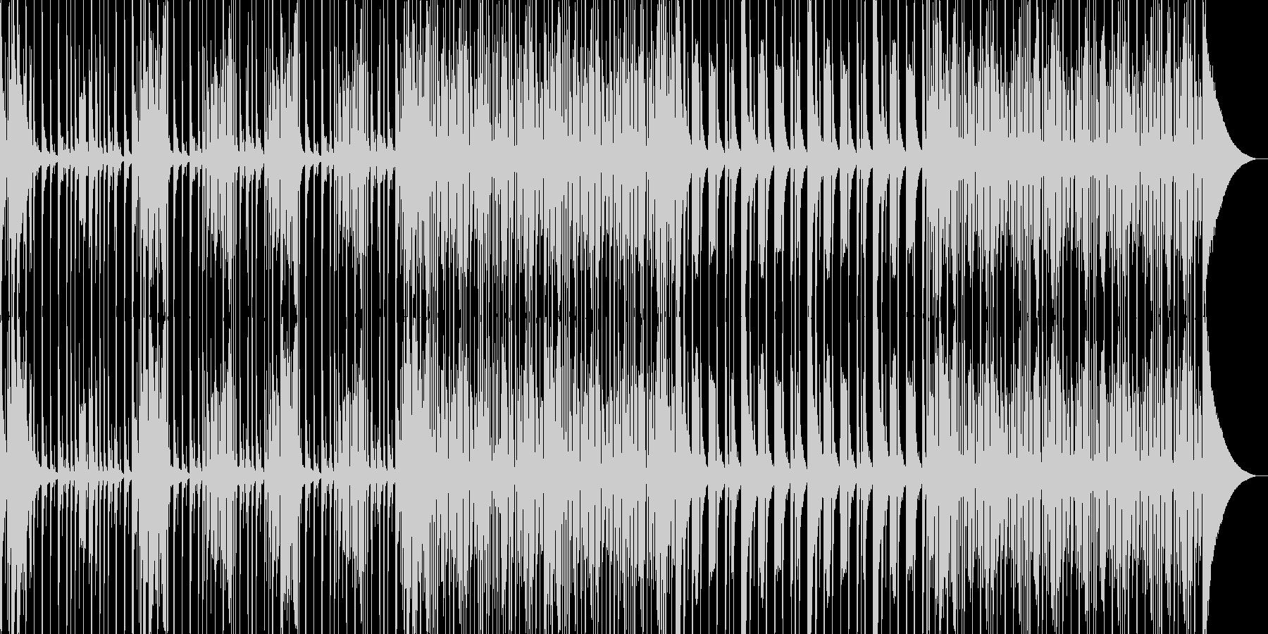 スラップベース主軸なファンキーな曲の未再生の波形